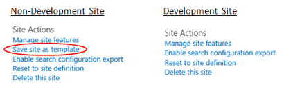 using sharepoint site templates in sharepoint online dev sites