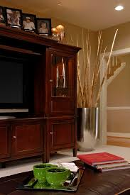 Media Center Armoire Traditional Vase Design Family Room Traditional With Leather