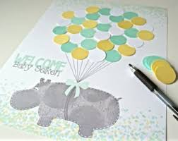 gender neutral baby shower decorations hippo baby shower etsy