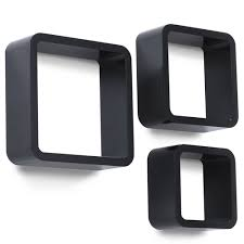 Floating Box Shelves by Set Of 3 Floating Cube Wall Shelves Square Storage Shelf Mount