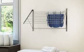 laundry room trendy wall mounted laundry drying rack uk wall