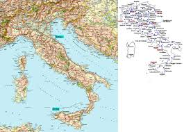 Italy Cities Map by Small Road Map Of Italy Italy Small Road Map Vidiani Com Maps