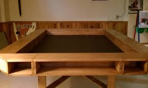 reclaimed wood game table furniture wood whisperer game table chh basketball tabletop real