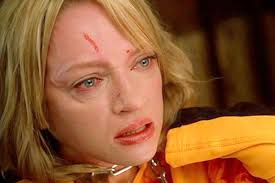 uma thurmans hair in kill bill quentin tarantino has no regrets choking and spitting on uma