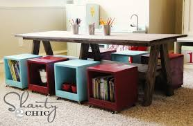 playroom table with storage i built a kids table for my playroom hometalk inside with storage