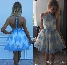 blue lace short homecoming dresses for juniors 2017 cheap plus