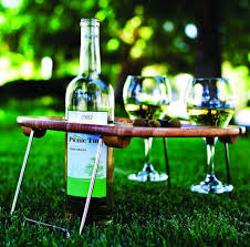 outdoor wine glass holder table fancy picnic time mesavino portable wine and snack table