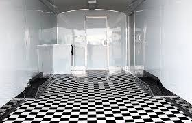 checkered vinyl flooring black and white mirage trailer parts