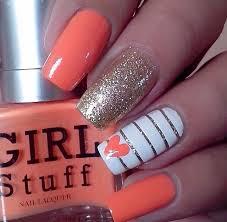 top 25 best orange nail art ideas on pinterest toenails