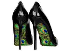 Peacock High Heels Peacock Shoes Etsy