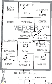 mercer map file map of mercer county ohio with municipal and township labels