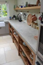 beton ciré mur cuisine large bespoke polished concrete worktop cast in situ with no joins