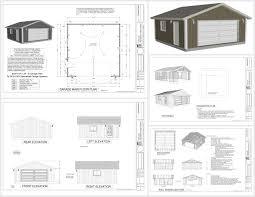 24 x 24 garage plans g518 24 x 24 x 8 garage plans spec sheet sds plans