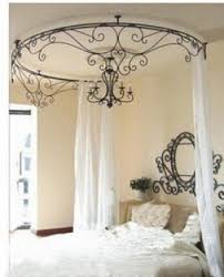 Iron Canopy Bed Wrought Iron Headboards Foter