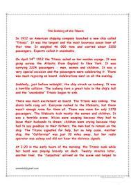 21 free esl titanic worksheets