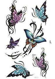 butterfly and flower tattoos buy butterfly flower rose temporary