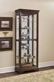 gallery cherry curio cabinet by pulaski furniture pulaski