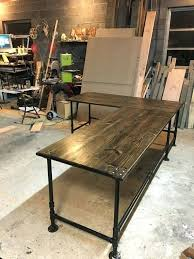 desk solid wood l shaped executive reclaimed industrial best 25