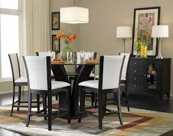 Glass Dining Room Furniture Sets Homelegance Daisy Round Glass Top Counter Height Dining Set D710