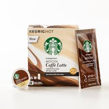 new caffè latte k cup pods starbucks coffee at home