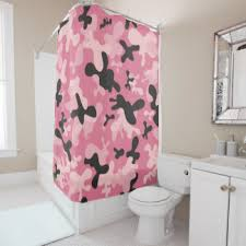 Pink Camo Bathroom Camouflage Shower Curtains Zazzle