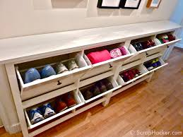 shoe bench storage solution for family entry u2014 the wooden houses
