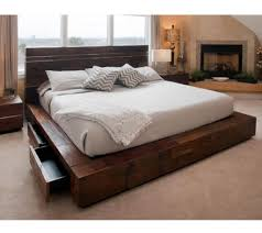 Reclaimed Wood Bed Los Angeles by Modern Furniture Modern Rustic Furniture Expansive Painted Wood
