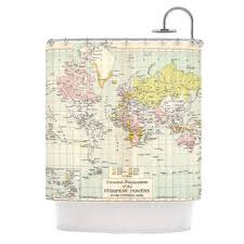 World Map Fabric Shower Curtain Best World Map Shower Curtain Products On Wanelo