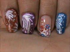 step by step tutorial for glittery shooting stars nail art for