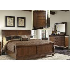cherry sleigh bed liberty furniture traditions 4 piece king sleigh bedroom set in
