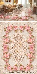 large rose leaves edge pattern 00066 floor decals 3d wallpaper