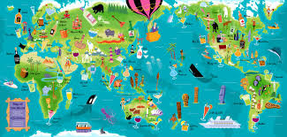 Worlds Map by Shag Map Of The World Shag Pinterest Map Illustrations