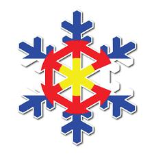 State Flag Of Colorado Colorado Sticker Colorado Snowflake Sticker Snowflake Sticker