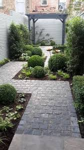 interesting design for what is pretty much no yard small garden