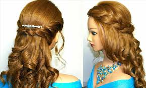 loose headband braid with curls for prom hair pinterest updos long