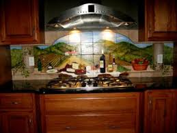 kitchen mural backsplash tumbled marble murals