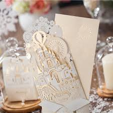 pop up wedding invitations 10 pieces lot wishmade wedding decoration 3d castle shape pop up