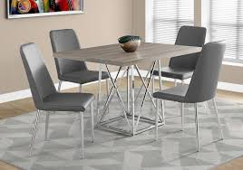 36 by 48 table 1057 dining table only 36 x 48 dark taupe chrome