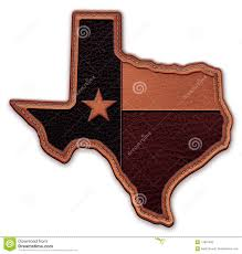 Texas State Flag Image Texas State Map Flag Leather Patch Stock Illustration