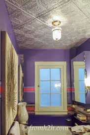 How To Put Up Tin Ceiling Tiles by How To Cover A Popcorn Ceiling By Installing Faux Tin Popcorn
