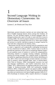 second language writing in elementary classrooms an overview of