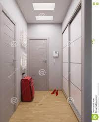 3d rendering hall interior design in a modern studio apartment