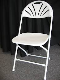 rental folding chairs fan back white folding chair surdel party rentals