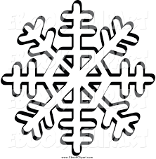 vector clip art of a black and white snowflake with eight tips by