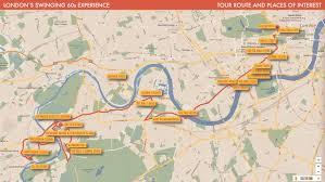 London Bus Map London Swinging 60s Experience Music Bus Tour