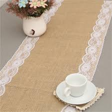 Burlap Lace Table Runner New Vintage Lace Jute Table Runner Original Ecology Style White