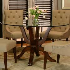 Glass Top Pedestal Dining Room Tables Single Pedestal Table W Glass Top By Cramco Inc Wolf And