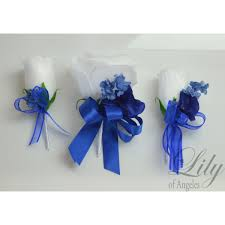 royal blue boutonniere blue royal navy marine white bouquets corsages boutonnieres