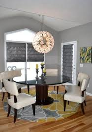 yellow and gray great room living room eat in kitchen