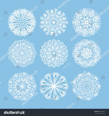christmas snowflake decoration set isolated on stock vector